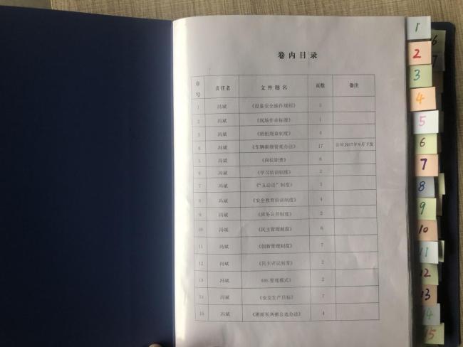 陕北矿业神南产业后勤车队维修班标签化管理基