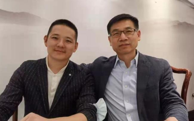 精准健康龚晓林会见证券传媒总裁龚磊